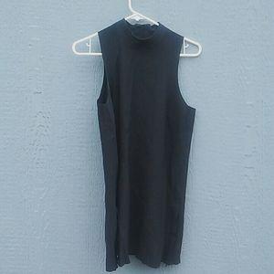 Athleta | High collar side zip dress black